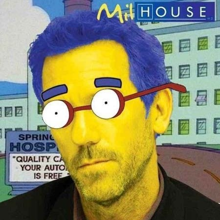 Doctor House nei panni di... Milhouse dei Simpson