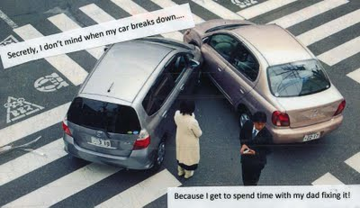 Post Secret, incidente d'auto